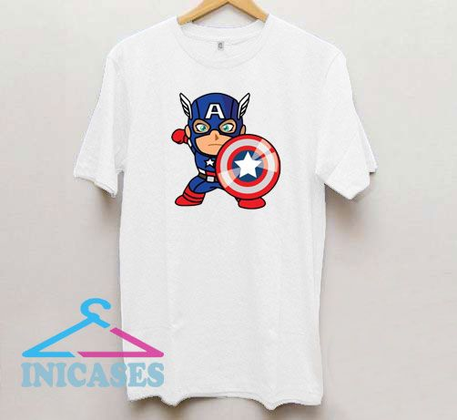 Captain America Chibi Cartoon T Shirt