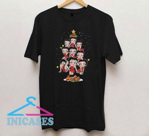 Christmas Tree Betty Boop T Shirt