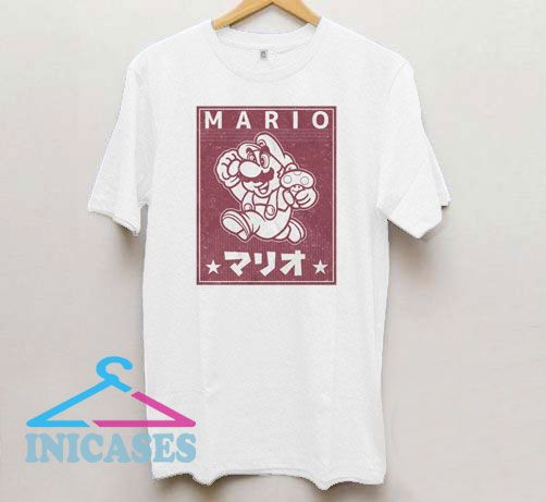 Classic Mario and Mushroom Funny T Shirt