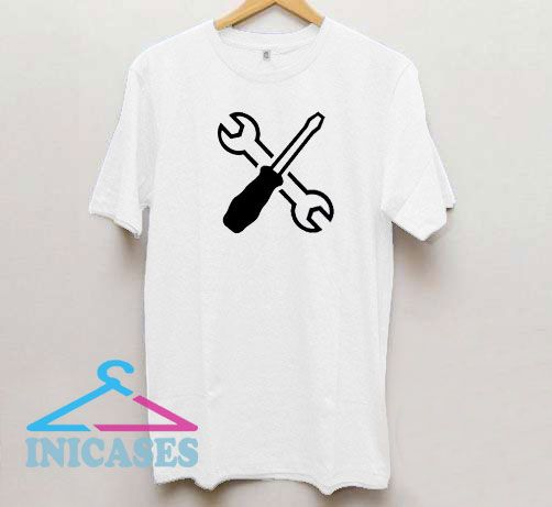Crossed Wrench Screwdriver Graphic T Shirt