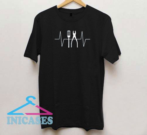 Electrician Heartbeat Screwdriver Pliers T Shirt