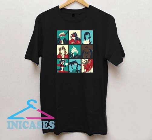 Final Fantasy VII The Nine Main T Shirt