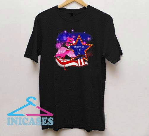 Flamingo show happy 4th of july T Shirt