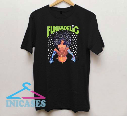 Funkadelic Afro Girl Black T Shirt