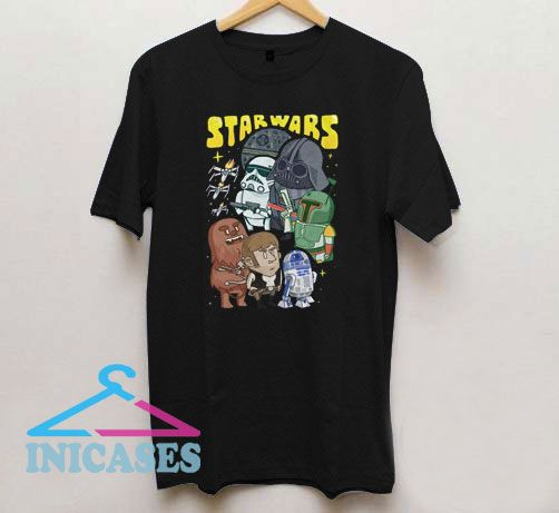 Funny Starwars Cartoon Character T Shirt
