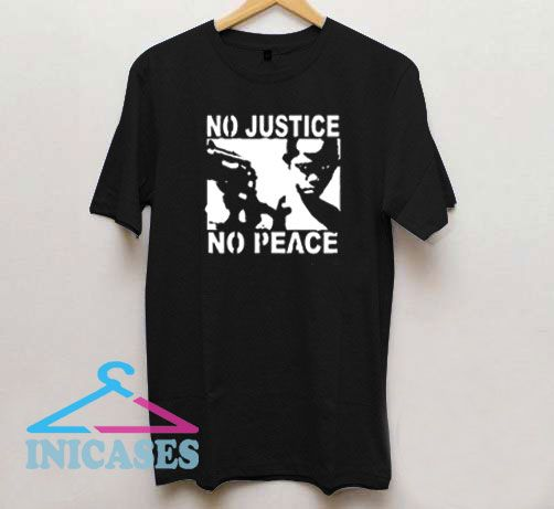 No justice no peace Gun T Shirt
