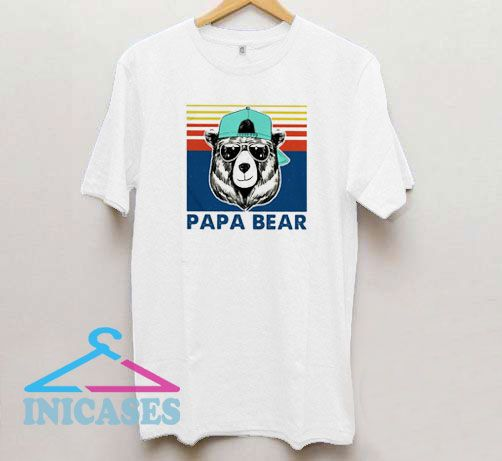 Papa Bear Vintage Daddy T Shirt