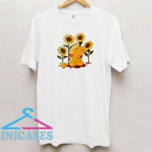 Pikachu Sleeping In Sunflowers T Shirt