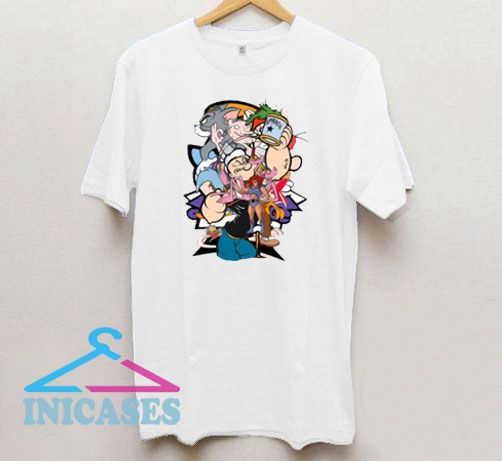 Popeye All Character Vintage T Shirt