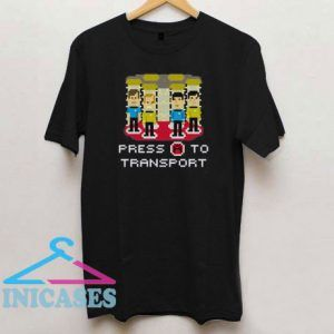 Press A to Transport Star Trek Movie T Shirt
