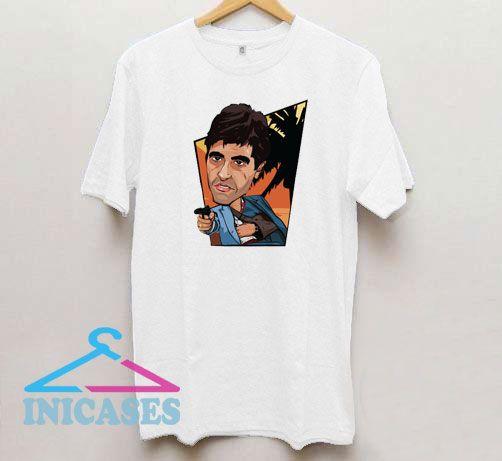 Scarface Cartoon Art T Shirt