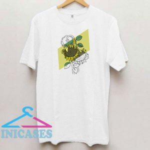 Sunflower Art Shadow T Shirt