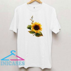 Sunflower Printing Floral T Shirt