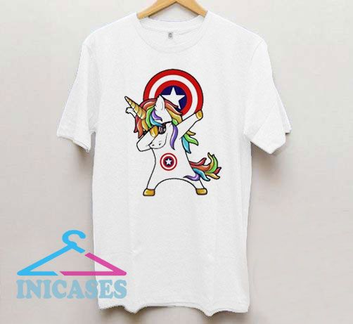Unicorn Captain America Logo T Shirt