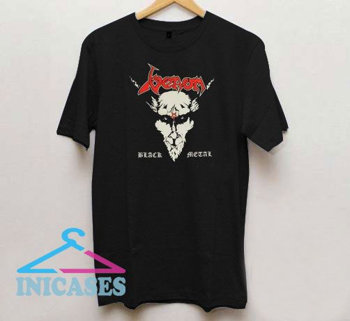 Venom Face Black Metal T Shirt