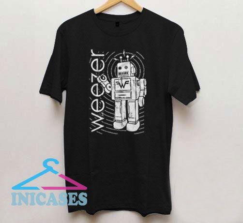 Weezer Robot 90s T Shirt