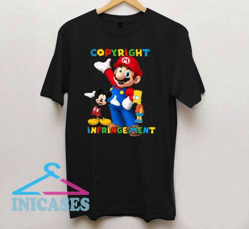Copyright Micky Mouse Super Mario T Shirt