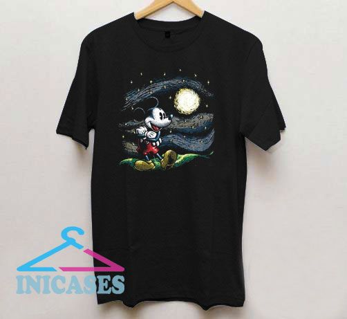 Mickey Mouse Starry Night T Shirt