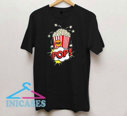 Popcorn Vintage Retro T Shirt
