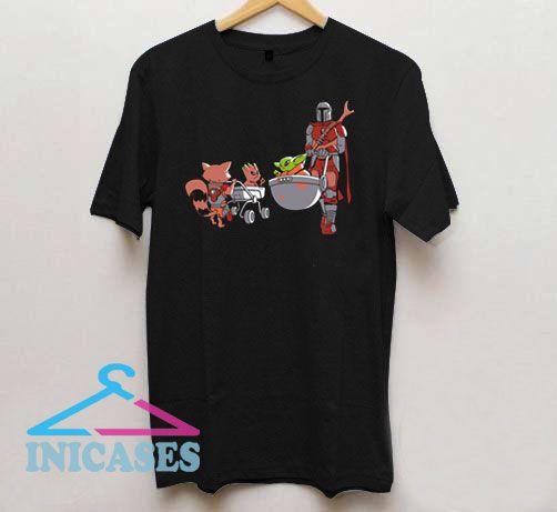 Baby Yoda vs Baby Groot T Shirt