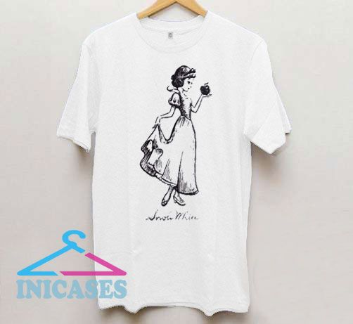 Snow White Sketch Hold Apple T Shirt