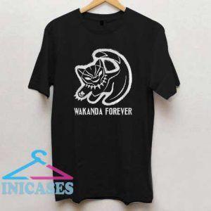 Black cat Black Panther Wakanda Forever T Shirt