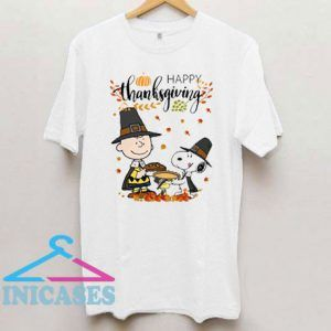 Charlie Brown and Snoopy Happy Thanksgiving T Shirt