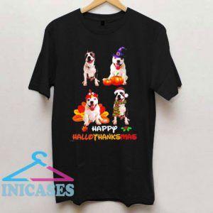 Halloween Thanksgiving Christmas T Shirt