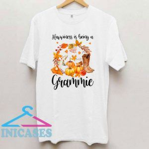 Happiness Is Being A Grammie Cute Thanksgiving Christmas T Shirt
