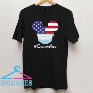 Mickey American Flag Face Mask Quarantined T Shirt