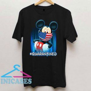 Mickey Mouse Face Mask Quarantined T Shirt