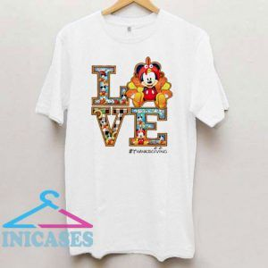 Mickey mouse Love thanksgiving T Shirt