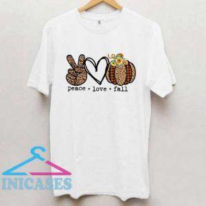 Peace Love Fall Leopard Print T Shirt