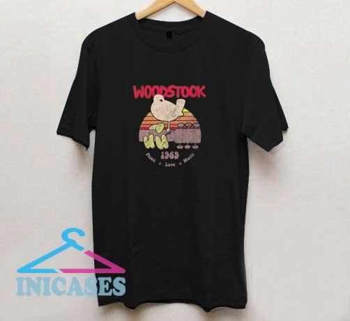 Bird n Guitar Woodstock T Shirt