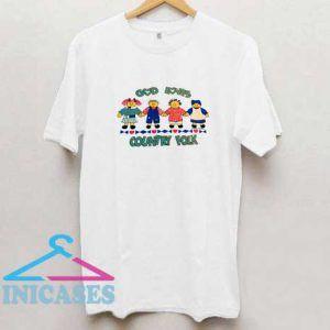 God Loves Country Folk Vintage T Shirt