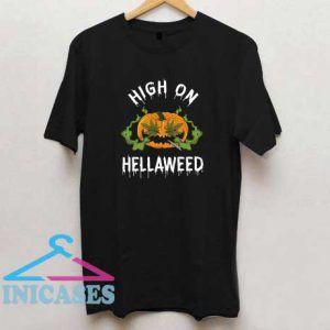 High On Hellaweed Funny Halloween T Shirt
