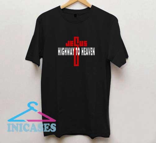 Jesus Highway To Heaven Red Line T Shirt