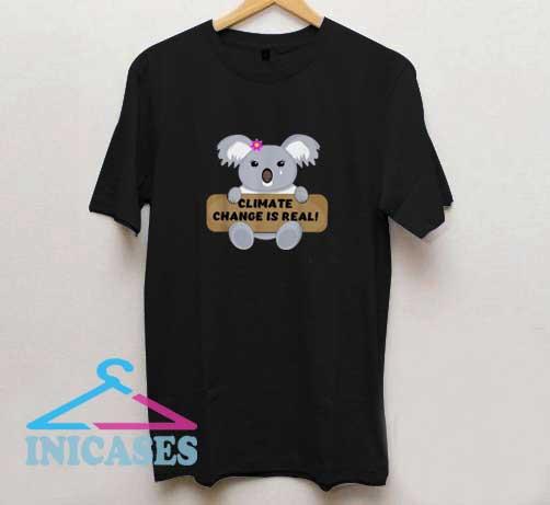 Koala Bear Climate Change T Shirt