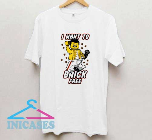 Lego Freddie Mercury I want to brick free T Shirt