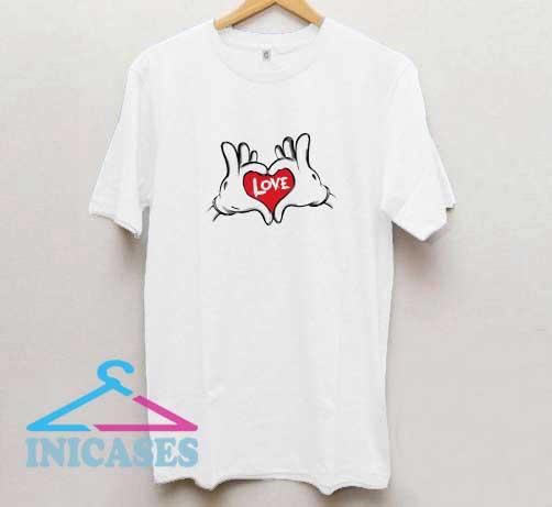 Love Hand Mickey T Shirt