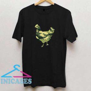 Military Chicken Camo Print T Shirt