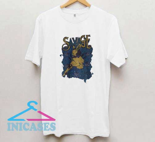 Savage Bunny Graphic T Shirt