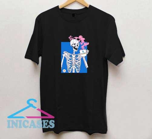 Skeleton Drinkking Dutch Bros T Shirt