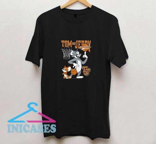 Tom Jerry Spinning Basketball T Shirt