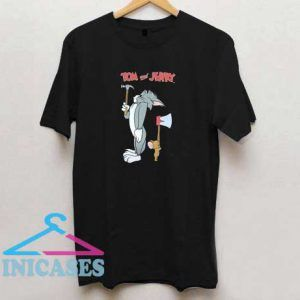 Tom and Jerry Hammer Axe T Shirt