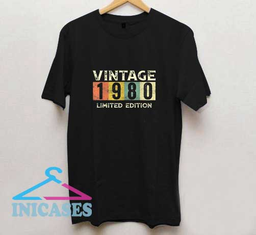 Vintage 1980 Limited Edition Gift 40th T Shirt