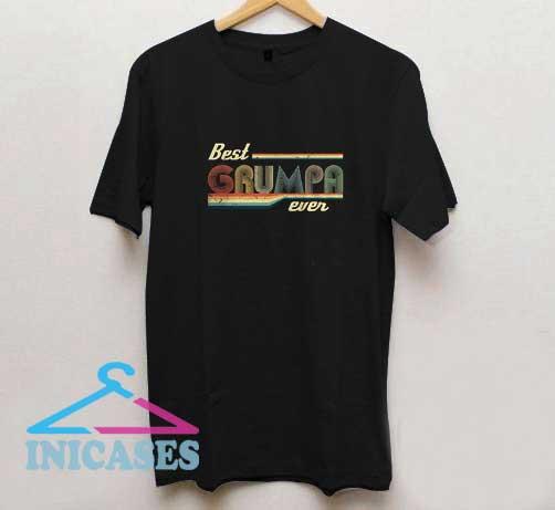 Vintage Best Grumpa Ever T Shirt
