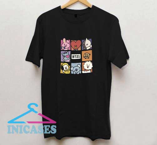 BT21 Cartoon BTS T Shirt