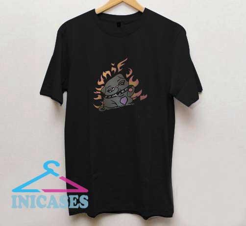 Cartoon Punk Dog T Shirt