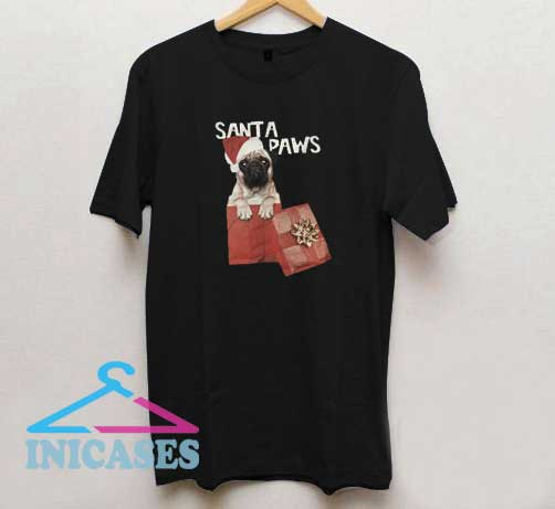 Christmas Santa Paws T Shirt